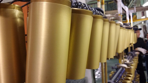 Gold Anodising Product Example